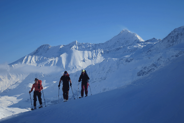 Ski Traverse Alps, Hut to Hut trip with Skis, Mountain Guides, Hochtirol